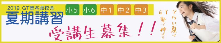 2019年度 夏期講習(小学生・中学生)